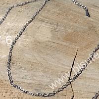 Collar Baño de plata, eslabón de 1,5, 50 cm de largo, por unidad