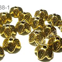 Casquete dorado  9 mm de diámetro set de 18 unidades