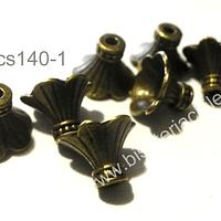 Casquete envejecido 10 mm de largo por 13 mm de diámetro set de 8 unidades