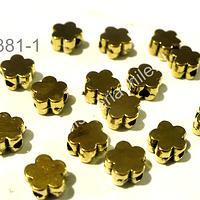 Separador en forma de flor dorado 6 mm de diámetro set de 12 unidades