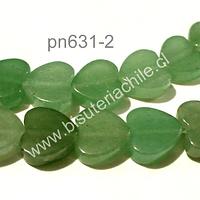 Jade en forma de corazón, 10 x 10 mm, tira de 20 unidades