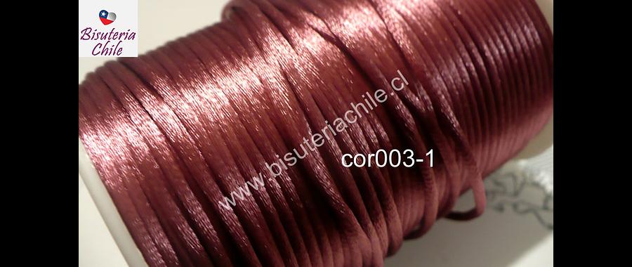 Cola de ratón color palo de rosa,  2 mm de ancho