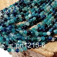 Agata facetada de 4 mm, en tonos calipsos verdosos, tira de 90 piedras aprox