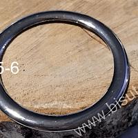 Argolla plateada grande, 56 mm de diámetro, por unidad