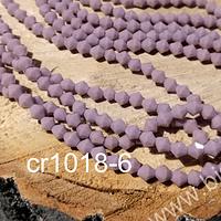 Cristal tupi 4 mm en color lila, tira de 75 cristales aprox.