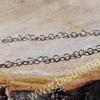 Cadena acero plateado, 3 x 3 mm, por metro