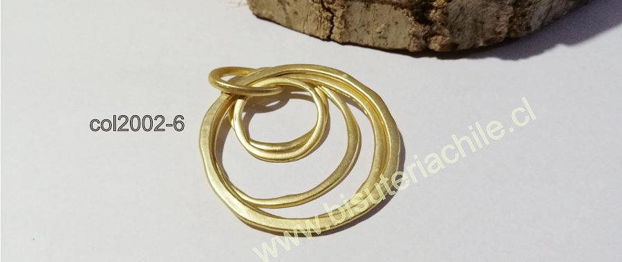 Colgante baño de oro , 47 mm, por unidad