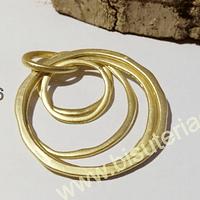 Colgante baño de dorado, 47 mm, por unidad
