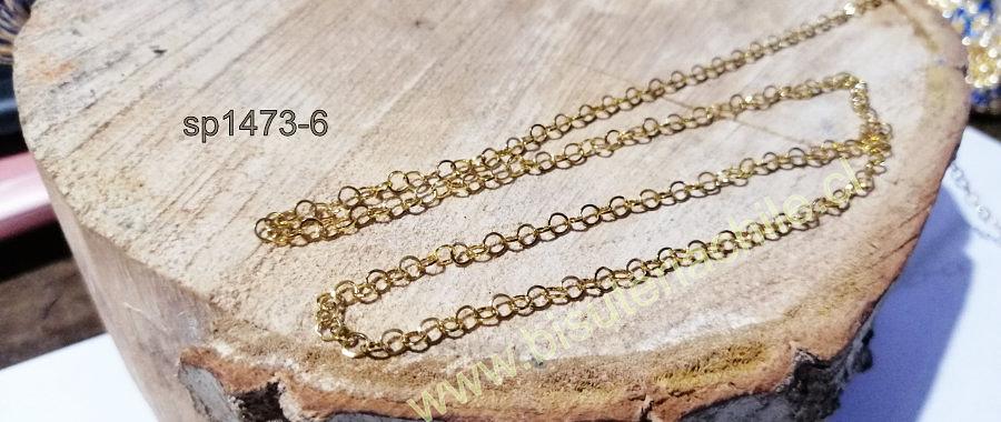 Cadena acero dorado, 3 x 3 mm, por metro, bella cadena