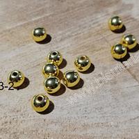 Separador dorado rodinado (baño de rodio) excelente calidad de 5,5 mm, set de 10 unidades