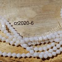 Cristal tupi de 4 mm, color crema, tira de 75 cristales aprox