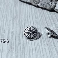 Botón con diseño plateado, 12 mm, set de 2 unidades