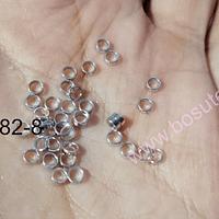 Separado baño de oro blanco 3 x 1 mm, set de 1 grs, (38 unidades aprox.)