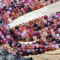 agata en tonos multicolor en 4 mm, tira de 90 piedras aprox