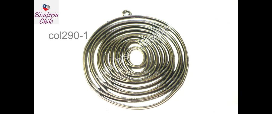 Colgante plateado 45 mm de diámetro, por unidad
