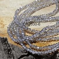 Cristal facetado gris de 2 x 2 mm, tira de 190 cristales