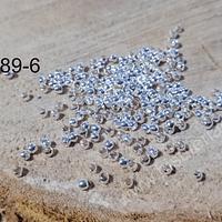 escalachin plateado de 2 mm, agujero de 1 mm, set de 1 grs.