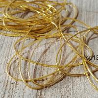 Argolla para collar dorada, 40 mm de largo por 20 mm de ancho, set de 15 unidades