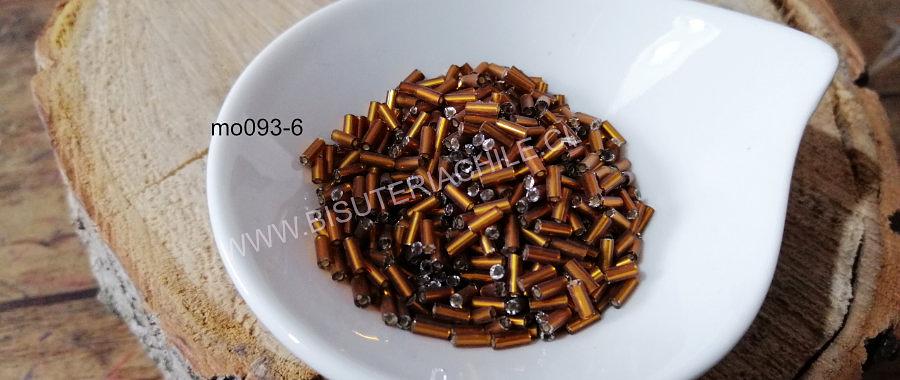 Canutillo café, 6 x 1,5 mm, set de 25 grs.