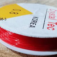 Elástico rojo de 0.8, carrete de 7 mts.