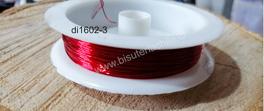 alambre de cobre color rojo 0,3 , rollo de 12 metros