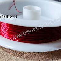alambre de cobre color rojo 0,4 , rollo de 12 metros