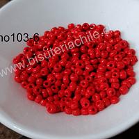 Mostacilla color rojo de 11/0 set de 50 grs