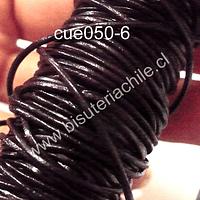 Cuero negro de 1 mm, por metro