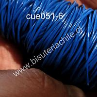 Cuero azul, 1 mm de espesor, por metro