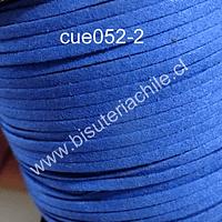 Gamuza azul de 3 mm de ancho y 2 mm de espesor, por metro