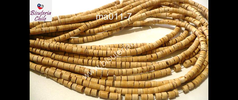 Cuentas de madera de coco, 4 mm, tira de 185 cuentas aprox