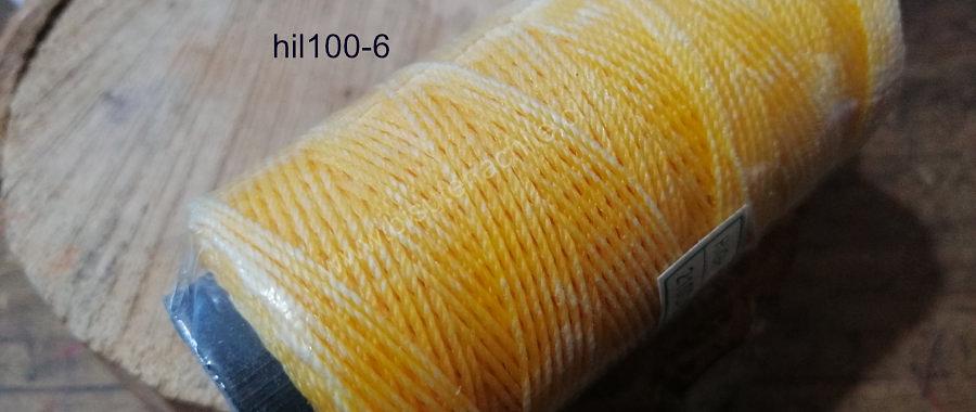 Hilo encerado color amarillo