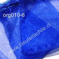 Bolsa de organza azul, 9 x 12 , set de 10 unidades