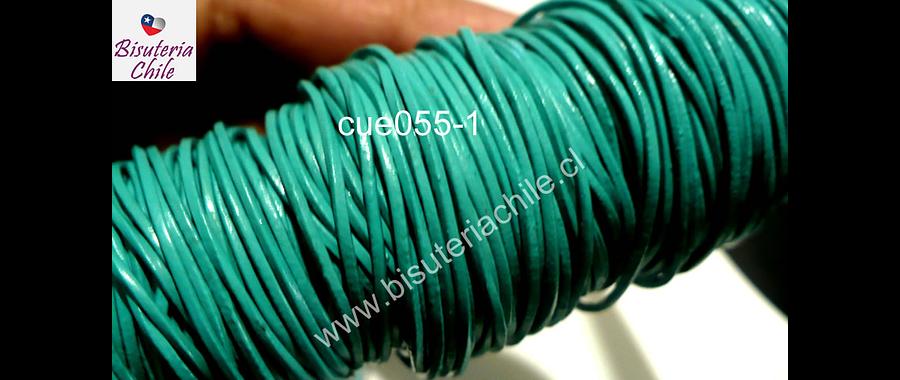 Cuero color menta de 1 mm, por metro