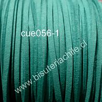 Gamuza color menta de 3 mm de ancho y 2 mm de espesor, por metro