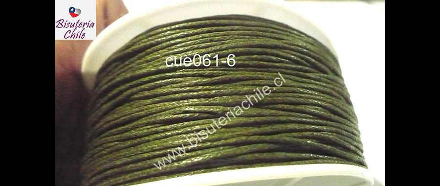 Hilos, Hilo de algodón verde 1 mm, carrete de  40 yardas