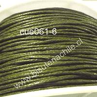 Hilo de algodón verde 1 mm, carrete de 70 mts