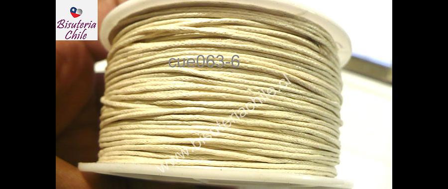 Hilos, Hilo de algodón blanco invierno 1 mm, carrete de  40 yardas