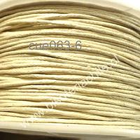 Hilo de algodón blanco invierno 1 mm, carrete de 70 mts