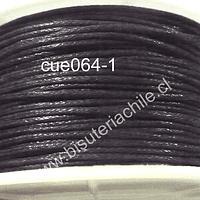 Hilo de algodón negro 1 mm, carrete de 40 mts