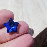 Cristal excelente calidad, austriaco, estrella, con orificio superior 13 mm, por unidad