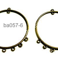 Base de aro envejecido, 40 mm de diámetro, por par