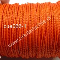 Hilos, hilo encerado color naranjo 70 mts