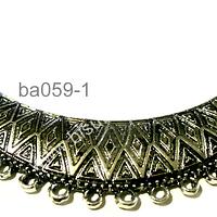 Base de collar plateado, 85 mm de ancho y 20 mm de grosor, por unidad