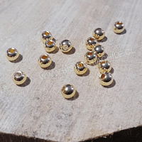 Separador dorado rodinado (baño de rodio) excelente calidad de 4 mm, set de 15 unidades