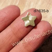 Estrella baño de oro, 12 mm, por unidad