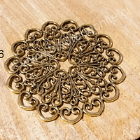 Colgante dorado, 52 mm de diámetro, por unidad