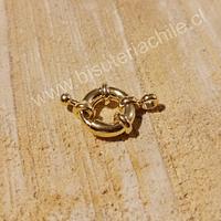 Cierre baño de oro, 15 mm, por unidad