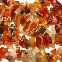 Agata chip, tira de 85 cm aprox, tamaños de piedra pequeño
