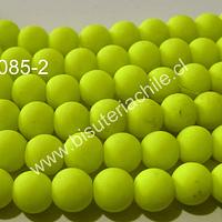 Perla engomada 8 mm color amarillo fosforescente, tira de 110 perlas aprox.